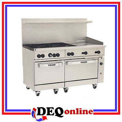 Vulcan 60ss-6b24g Endurance 60 Gas Range 6 Burner W 24 Griddle Ng Or Lp