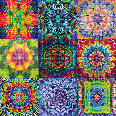Tie Dye Paper (TIE DYE Mandalas BLOTTER ART perforated sheet paper psychedelic)