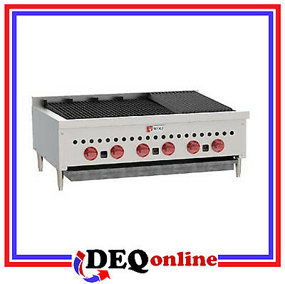 Wolf Scb36 Countertop Gas Charbroiler 36 Wide Stainless Steel Ng Or Lp