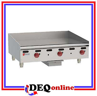 Wolf Agm36 Manual Control Heavy-duty Gas Griddle 36 X 24 Natural Or Lp