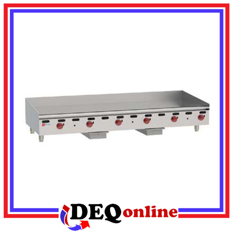 "Wolf AGM72 Manual Control Heavy-Duty Gas Griddle 72"" W x 24"" D Griddle NG or LP"