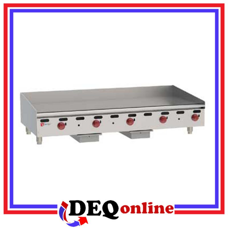"Wolf AGM60 Manual Control Heavy-Duty Gas Griddle 60"" W x 24"" D Griddle NG or LP"