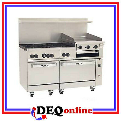 Vulcan 60ss-6b24gb 60 Gas Range 6 Burners W 24 Griddle Broiler Ng Or Lp