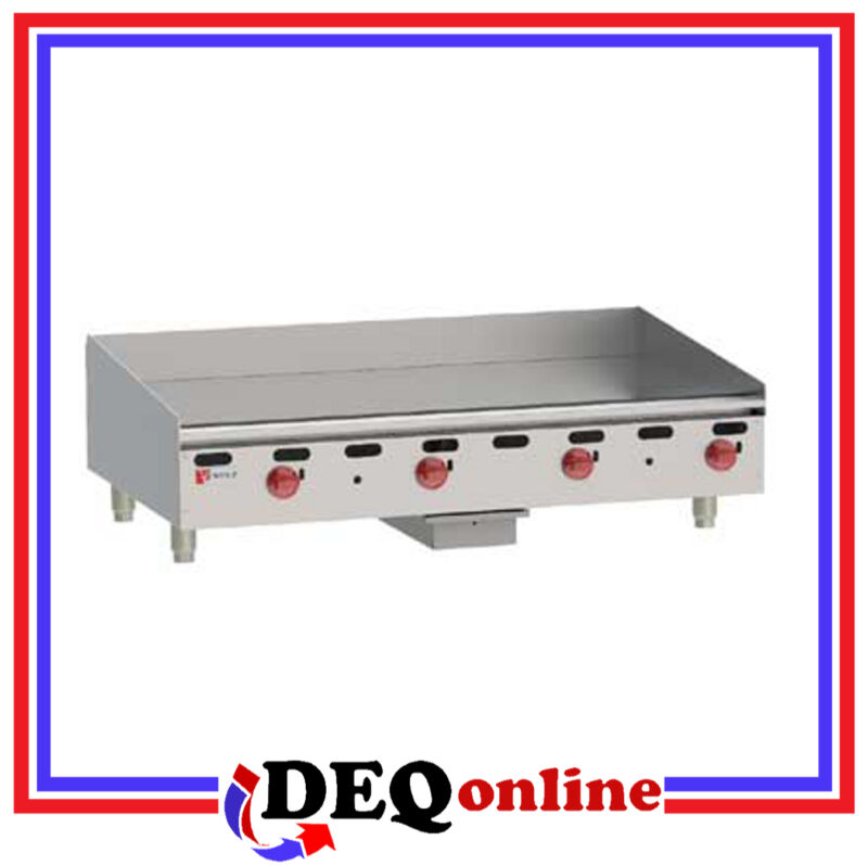 "Wolf AGM48 Manual Control Heavy-Duty Gas Griddle 48"" W x 24"" D Griddle NG or LP"