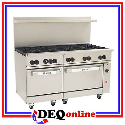 Wolf C60ss-10b Challenger Xl Gas Restaurant Range 10 Burners 60 Wide Ng Or Lp