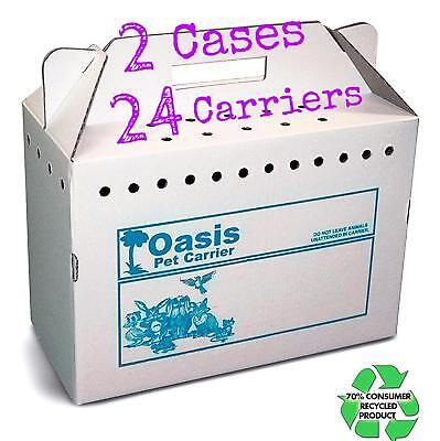 Disposable Cardboard Pet Carrier, Travel Carrier, 17.5