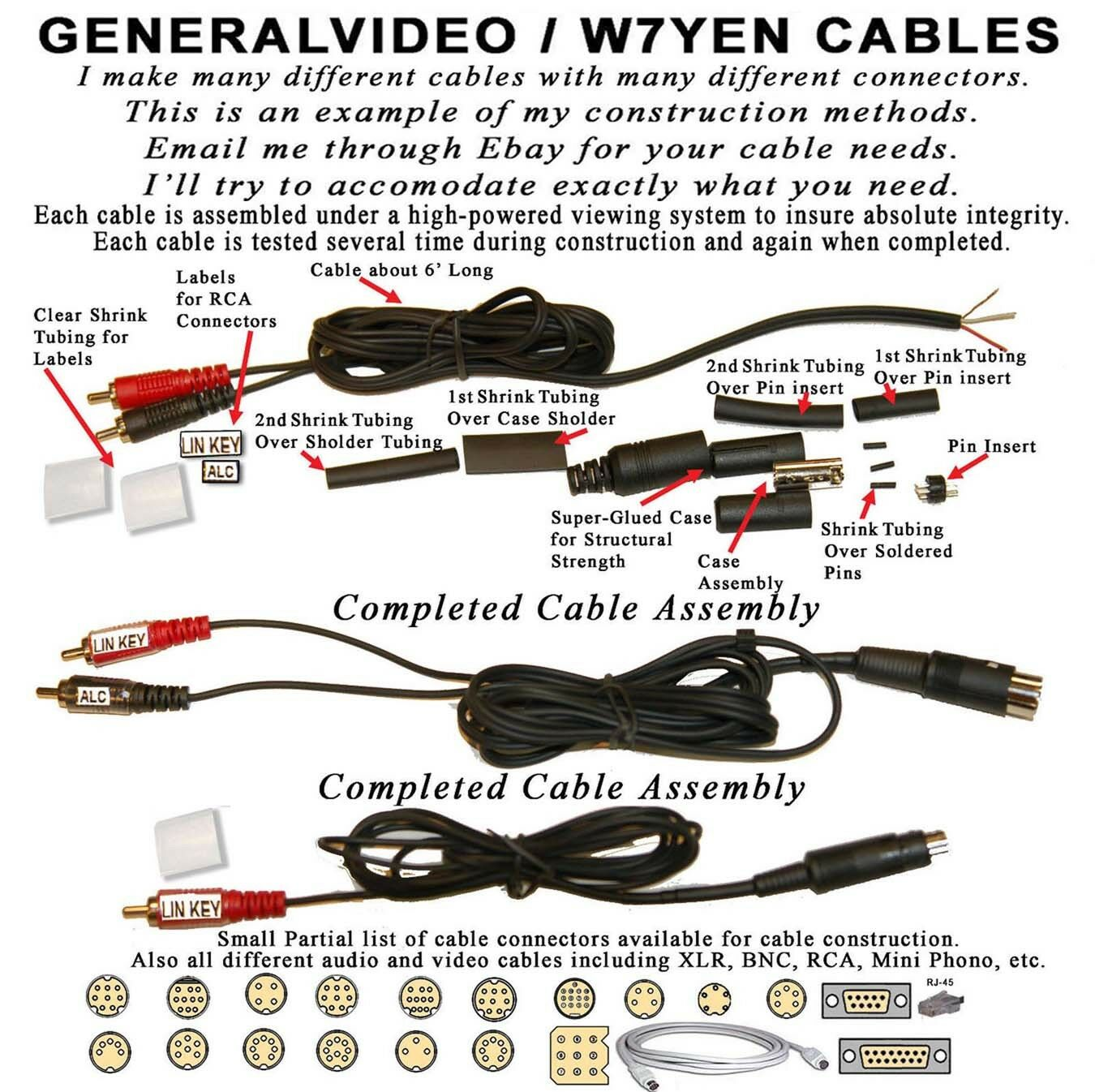 Details about YAESU ICOM KENWOOD ETC  KEYING CABLE  MINI-DIN OR DIN, TO RCA  CONNECTOR, NO ALC