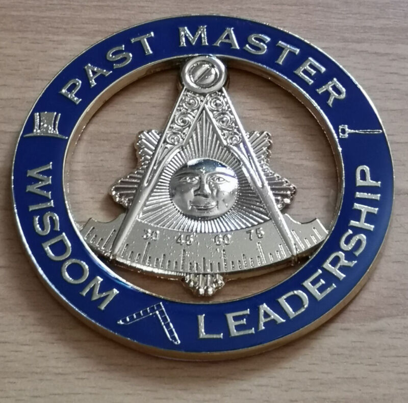 Masonic Auto Car Badge Emblems mason E39 PAST MASTER WISDOM LEADERSHIP