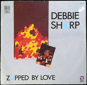 DEBBIE-SHARP-Zapped-By-Love-Spain-Zafiro-1985-MaxiSingle-Maxi-Single-45rpm