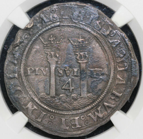1542-55 4r M G Carlos and Joanna Mexico 4 Reales NGC XF DETAILS ENVIRONMENTAL DA