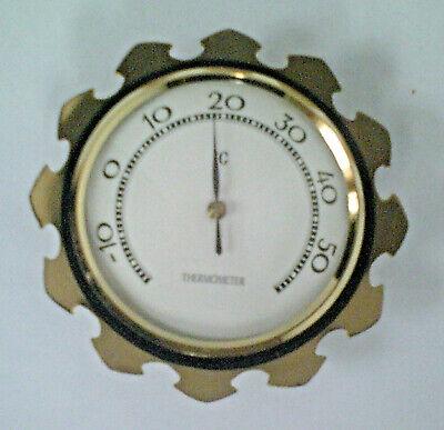 ANTIK OVP Original 50er Jahre Zimmerthermometer blass grün 10 cm Deutsche Marke