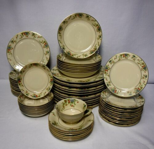 HEINRICH china MEADOW pattern 60-piece SET SERVICE for 12 only 1 cup