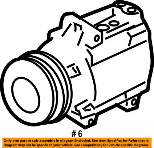 Subaru Oem 05 06 Legacy Ac Ac Compressor 73111ag001