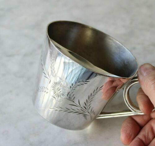 Antique Silver Plate Mustache Cup Aurora S P MFG Co 1899