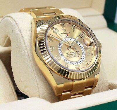 Rolex Sky-Dweller 326938 18K Yellow Gold Oyster Men's Watch BOX/PAPERS *MINT*