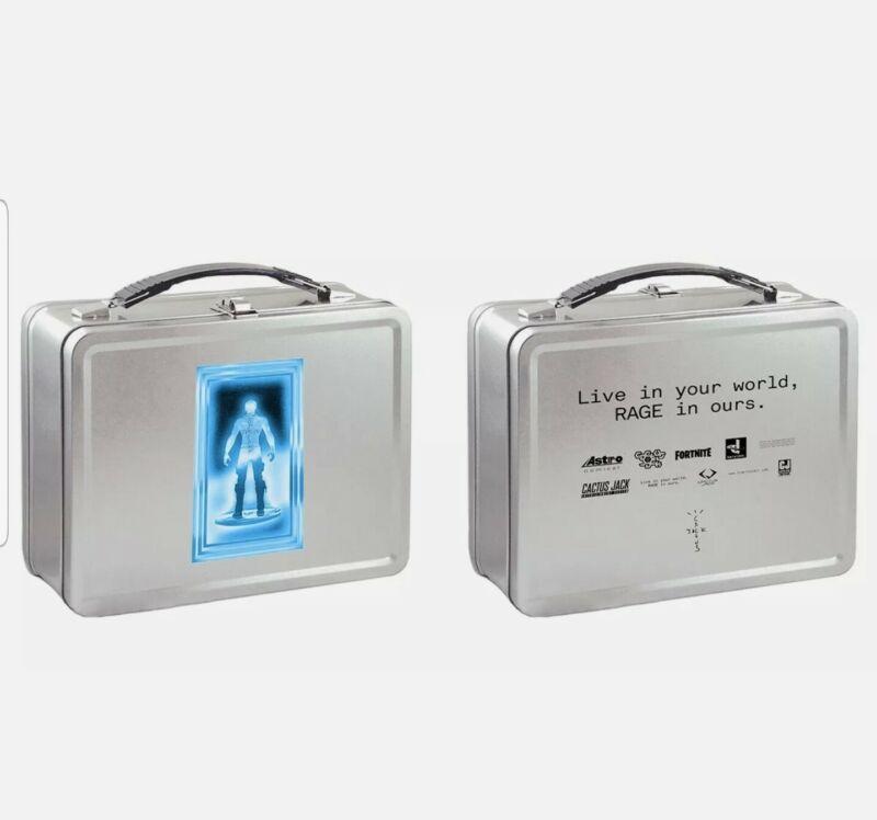 TRAVIS SCOTT CACTUS JACK BOYS FORTNITE METAL LUNCH BOX T-3500 100% AUTHENTIC