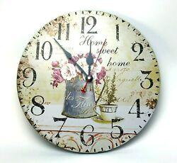 Wall Clock Home Sweet Home