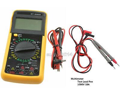 Dt-9205a Lcd Acdc Digital Multimeter Ammeter Resistance Capacitance Tester Pen