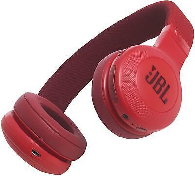 JBL E45BT On-Ear Foldable Wireless Bluetooth Headphones - Red