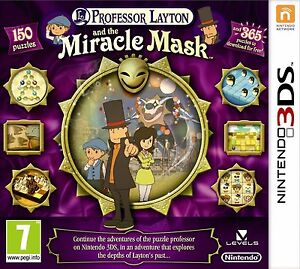 Professor Layton and the Miracle Mask Nintendo 3DS - FREE DELIVERY INCLUDED