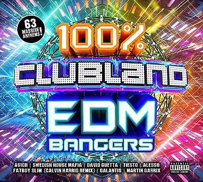 100% EDM Bangers - Clubland [New & Sealed] 3 CDs