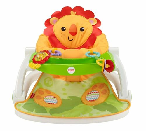 Fisher-Price Sit-Me-Up Floor Seat with Tray, Lion - Brand New in Box
