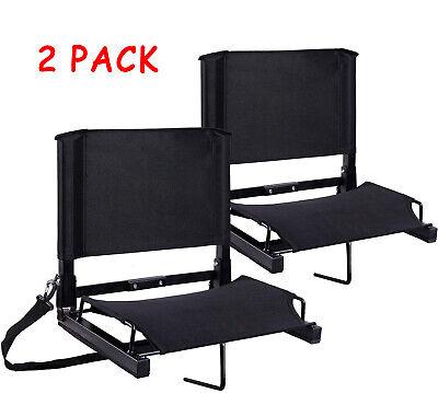 2 Pack Stadium Seats/Chairs Bleacher Seats with Back by Ohuhu Folding & Portable Folding Stadium Bleacher Seats