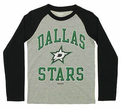 - Reebok NHL Youth Dallas Stars Long Sleeve Raglan Tee, Grey