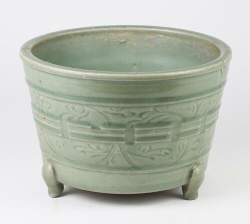 Ming Dynasty Chinese Celadon Tripod Censer