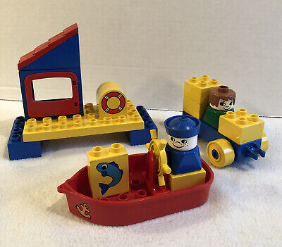 Vintage Lego Duplo Toddler Set #2454 Harbor Town Boat With Anchor Complete