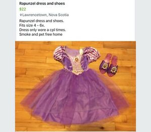 Rapunzel dress and shoes