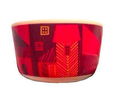 Marimekko Vanhakaupunki Oiva Bowl By Sanna Annukka Red, Yellows, Purple