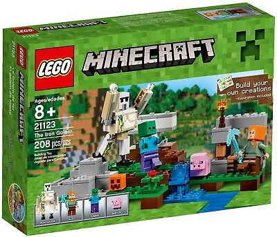LEGO MINECRAFT set #21123 THE IRON GOLEM (208 pieces) NEW Factory Sealed