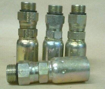 4 Weatherhead Crimp Hydraulic Hose Fittings -10 Male Swivel Orb X 12 Hose