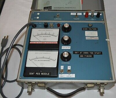Associated Research Hypot Model 5220 Dc Tester 0-15 Kv