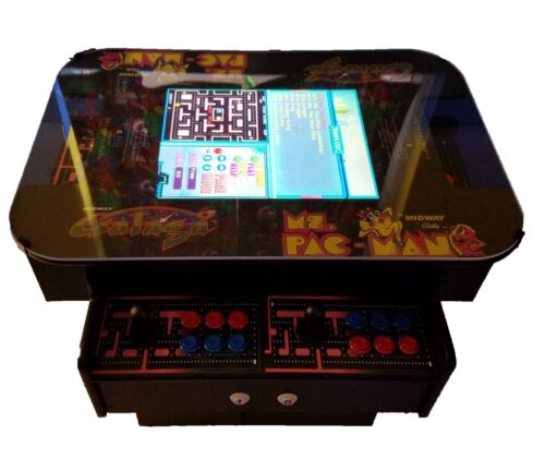 🔥3 Sided Cocktail Arcade Machine With 1000+Games/Ms Pacman, Donkey Kong, Galaga