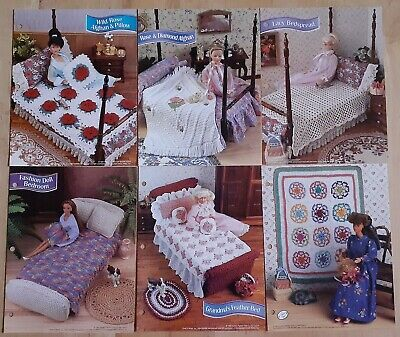 6 Crochet Patterns: Barbie and Ken Bedroom and Blankets furniture