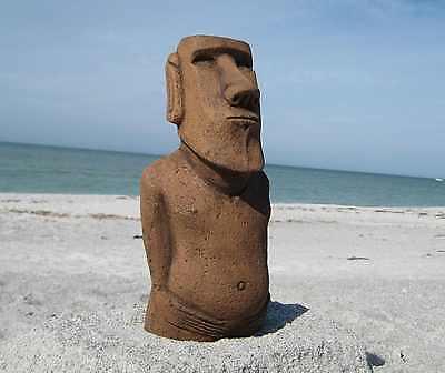 "Authentic Easter Island Moai Statue ""Garden Tiki""  ""British Museum Replica"""