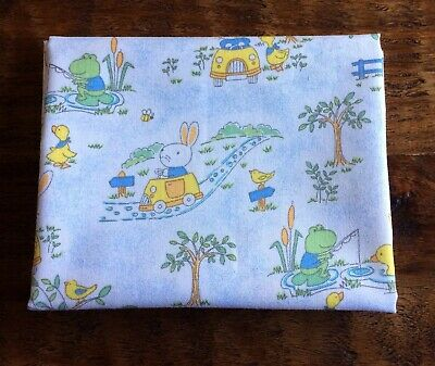 Fat Quarter Blue Duck Frog Rabbit Kids Baby Print Cotton Quilting Fabric Frog Quilting Fabric