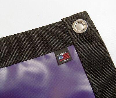 18 Ounce Purple Vinyl (Tarp, Heavy Duty, Purple, Waterproof, 18 Oz. Vinyl w/ Reinforced Edges )