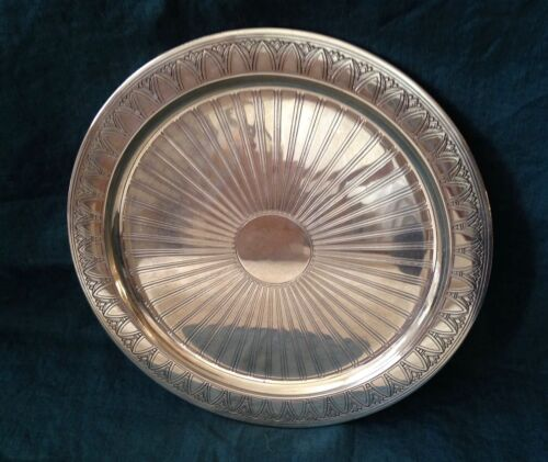 """Vintage Tiffany & Co. Art Deco Sterling Silver Charger, 11"""""""