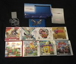 3DS xl with 8 games