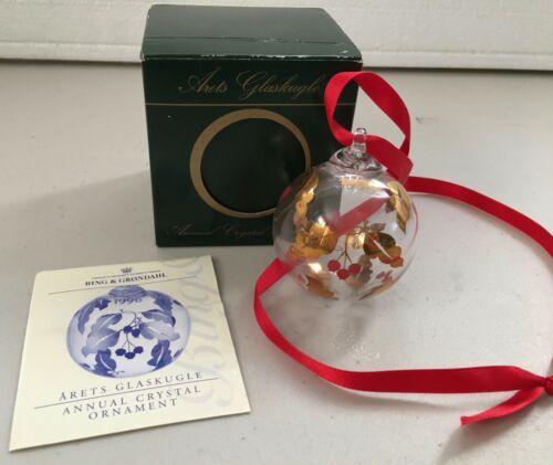 Bing & Grondahl - B & G Arets Glaskugle 1996 - Christmas Ornament
