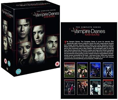 THE VAMPIRE DIARIES 1-8 (2009-2017) COMPLETE TV Season Series NEW  R2 DVD not US for sale  Shipping to Canada
