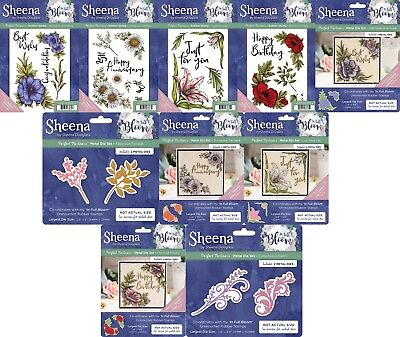 Sheena Douglass - PERFECT PARTNERS - IN FULL BLOOM COLLECTION - Stamps, (Full Bloom Collection)