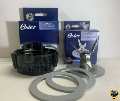 Genuine Oster Blender Blade 4961 & Jar Base Cap 4902 with 2 Sealing Rings NEW