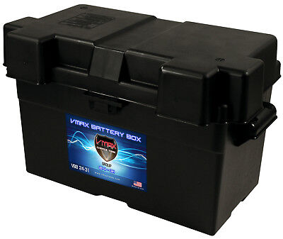 GROUP 27-31 VMAXTANKS BATTERY BOX for Marine Trolling Motor Boats and Pontoons