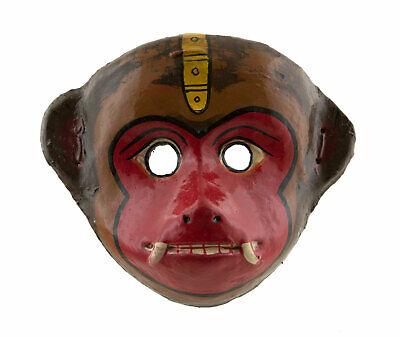 Mask Nepalese Yenya Monkey Hanuman Paper Mache Indra Jatra Festival Nepal 1253