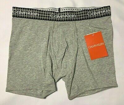 Calvin Klein Men's Buffalo Check Cotton Stretch Boxer Briefs Gray M L XL NWT
