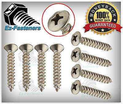 Sheet Metal Screws Oval Head Phillips Drive 8 X 34 Stainless Steel Qty 100